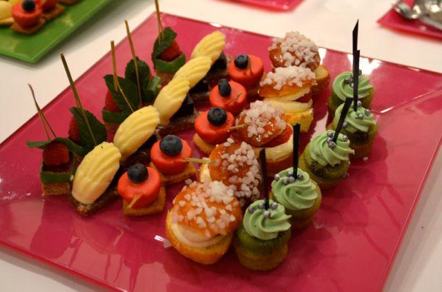 De fabuleux dessert sous forme de bouchées fondantes.