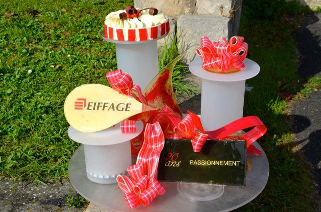 Plusieurs pièces composent ce dessert réalisé avec des fruits de saison.